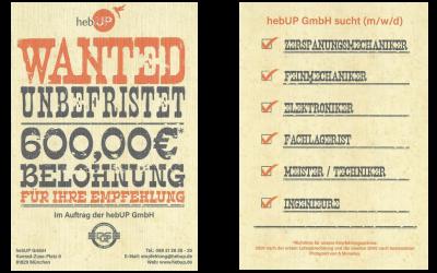 Wanted! 600 Euro Belohnung